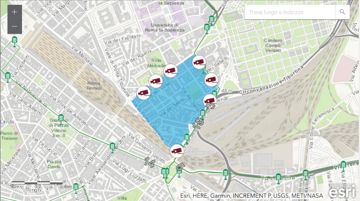 Mappa Ztl di San Lorenzo