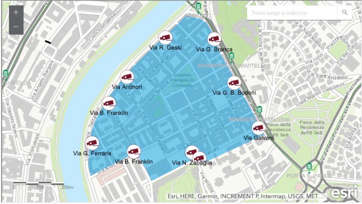 Mappa Ztl di Testaccio