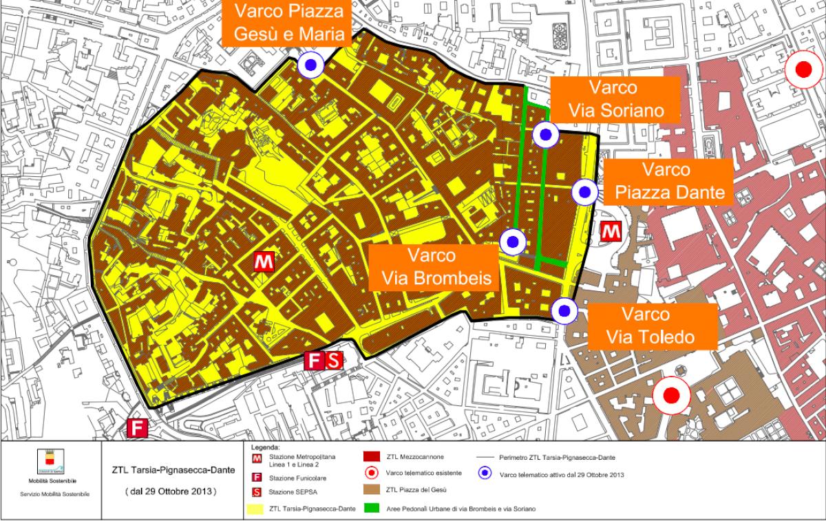 Map Tarsia – Pignasecca – Dante