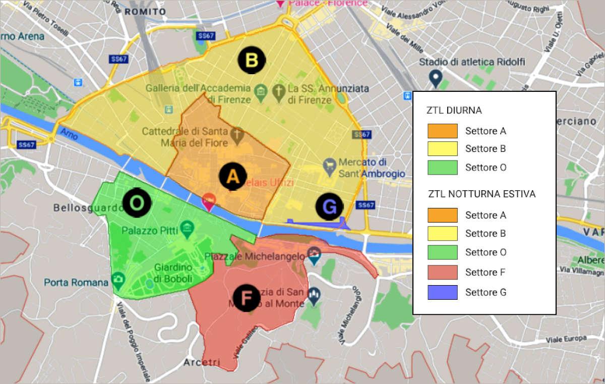 Mappa ZTL di Firenze