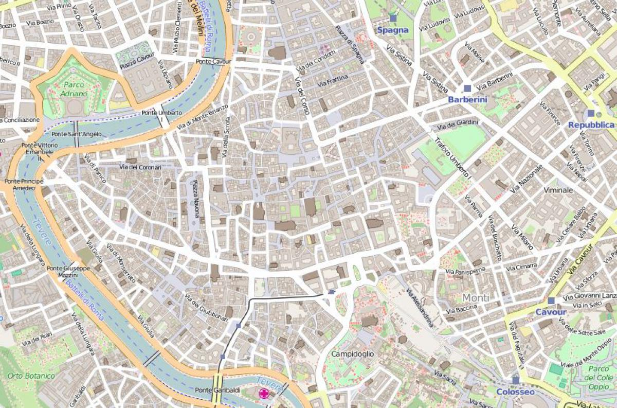 Mappa del centro storico di Roma