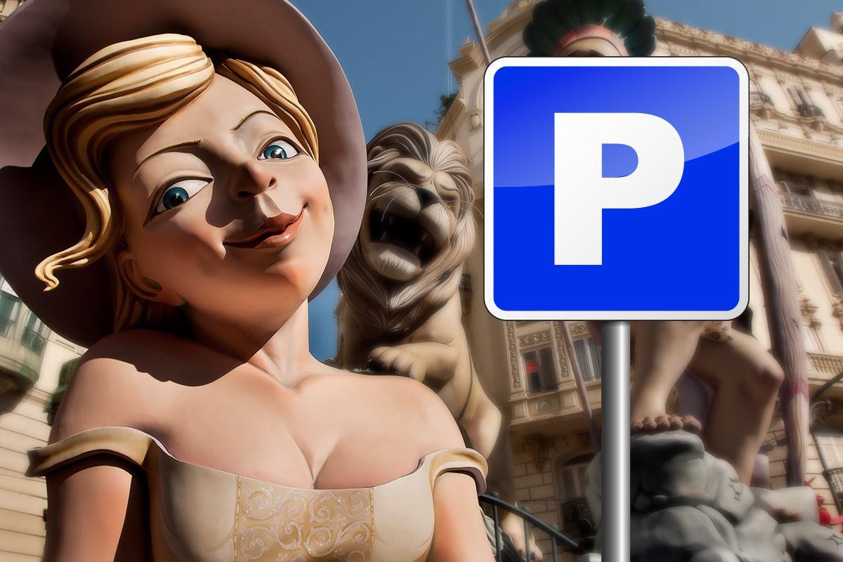 Parcheggiare durante il festival delle Fallas di Valencia