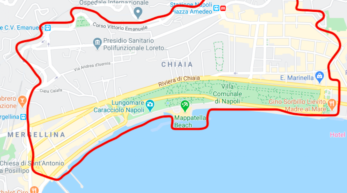Map Ztl of Chiaia