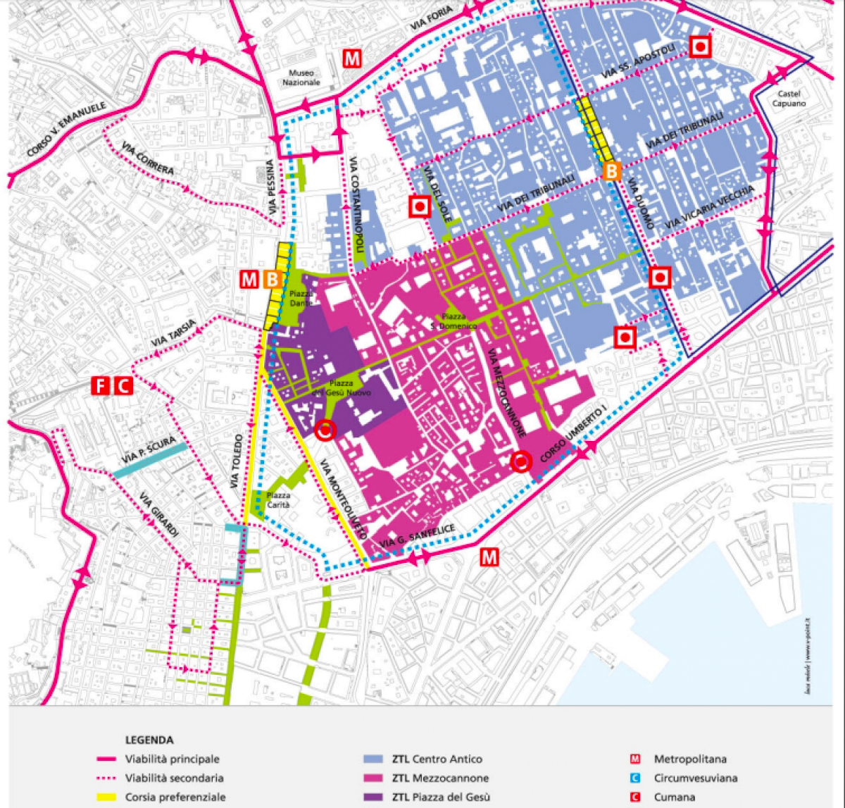 Map Ztl Napoli Centro Antico
