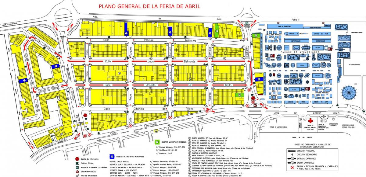 El Real de la Feria cuenta con un total de 1054 casetas, 9 de ellas abiertas a todos los públicos. Imagen: andalucia.org