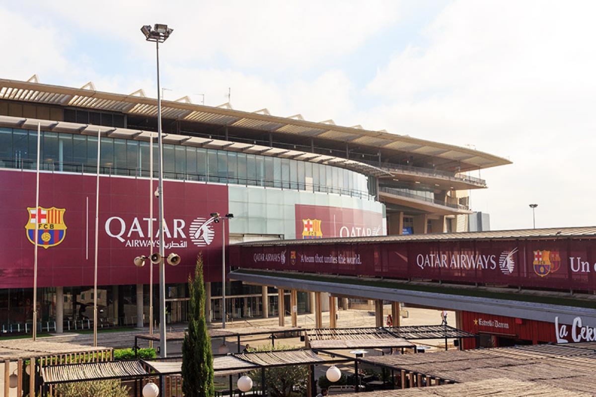 Le Camp Nou vu de l'extérieur