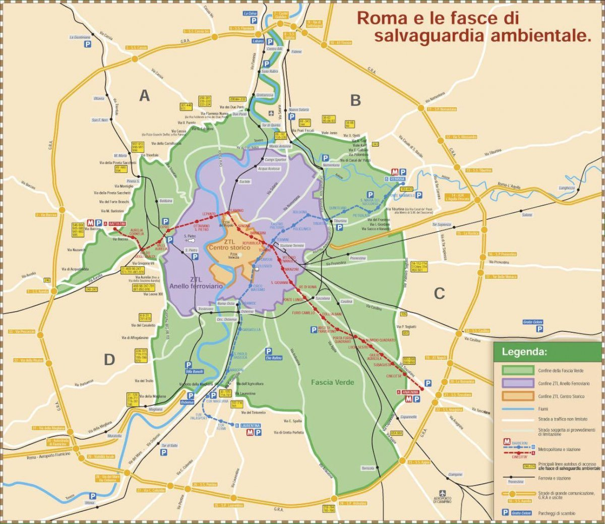 Mappa Ztl di Roma