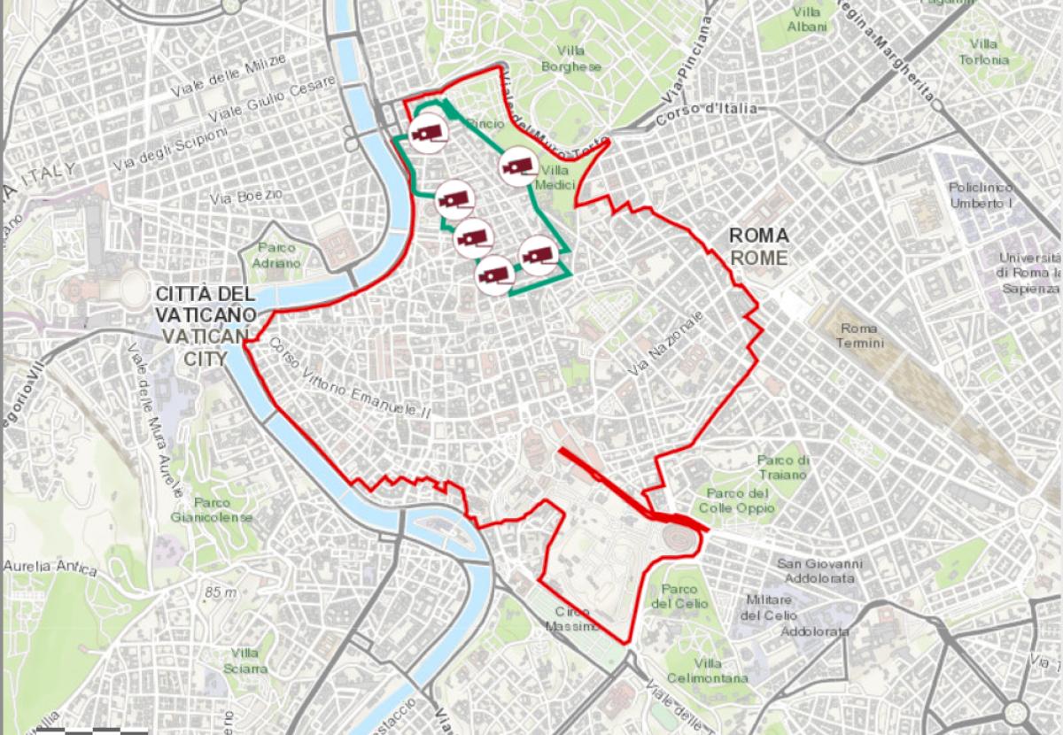 Map of Ztl Tridente