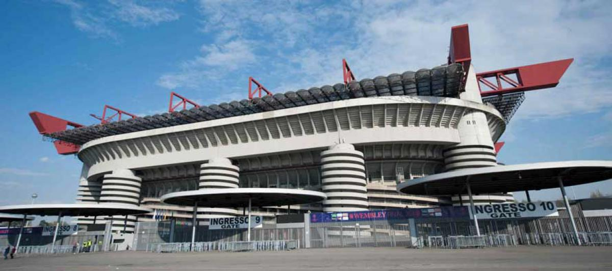 Parking near San Siro stadium