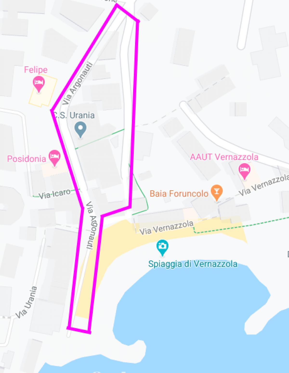 Map ZTL Vernazzola di Genova