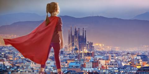 Qué hacer en Barcelona con niños: ¡Aparcar en un parking y olvidarte!