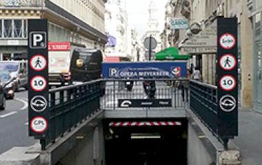 Reserveer een parkeerplek in parkeergarage SAEMES Meyerbeer Opéra