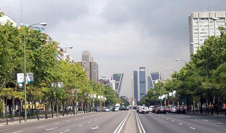 Paseo de la Castellana, Мадрид